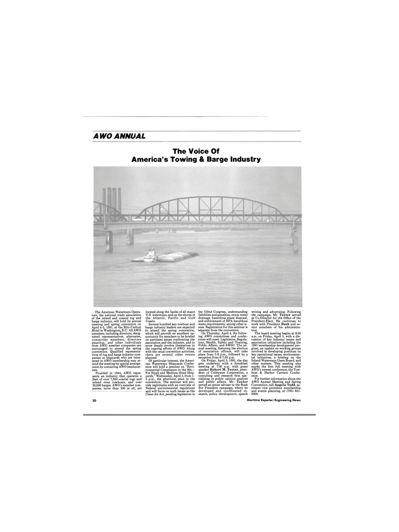 Maritime Reporter Magazine, page 19,  Mar 1991 Environmental Protection Agency