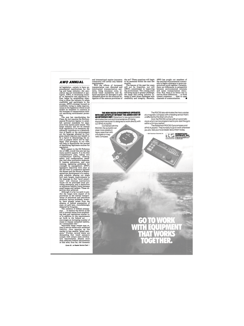 Maritime Reporter Magazine, page 24,  Mar 1991 Senate