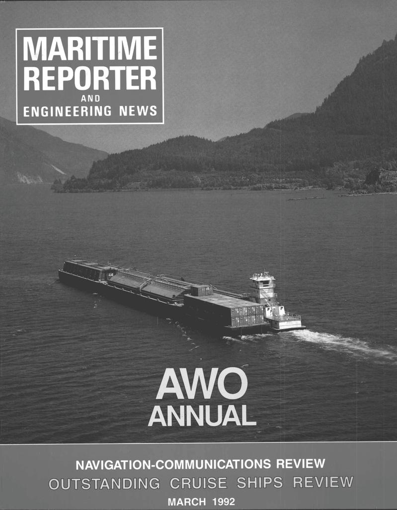 Maritime Reporter Magazine Cover Mar 1992 -