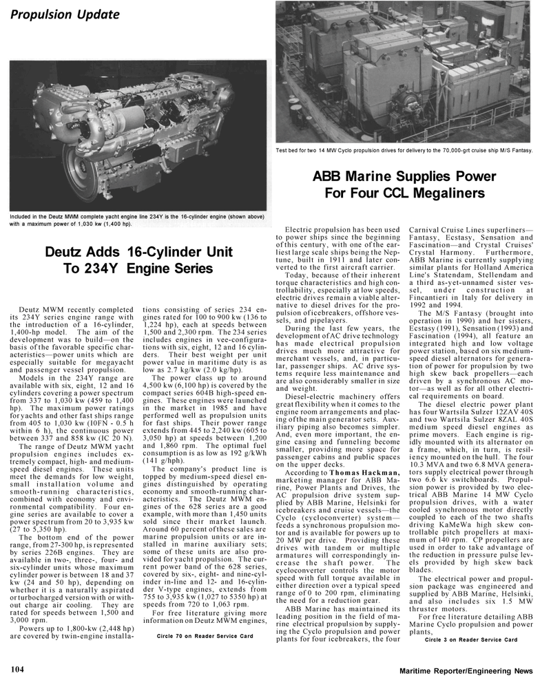 Maritime Reporter Magazine, page 3rd Cover,  Mar 1992 Ecstasy