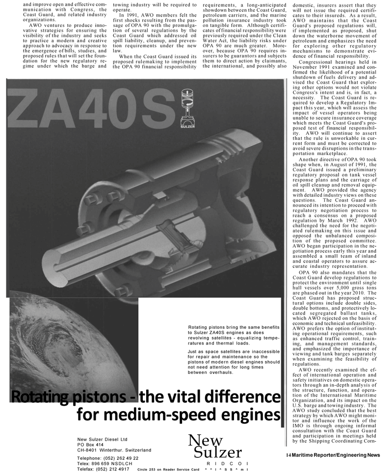 Maritime Reporter Magazine, page 12,  Mar 1992 oil spill clean-up