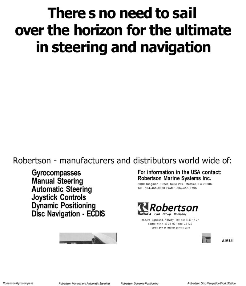 Maritime Reporter Magazine, page 13,  Mar 1992 United States