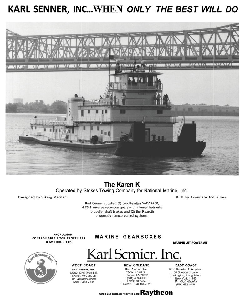 Maritime Reporter Magazine, page 2nd Cover,  Mar 1992