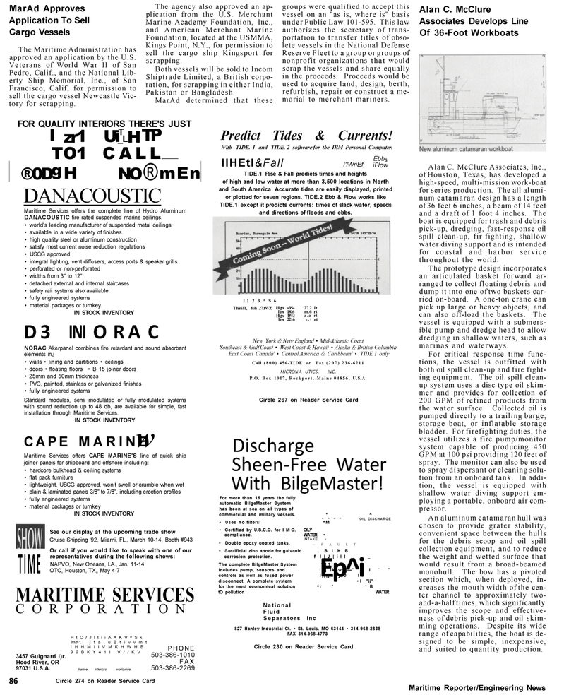 Maritime Reporter Magazine, page 22,  Mar 1992 South America
