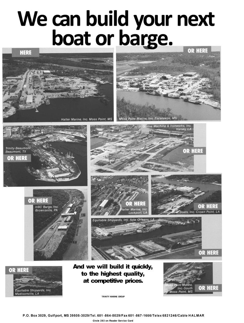 Maritime Reporter Magazine, page 25,  Mar 1992 Trinity Marine Group