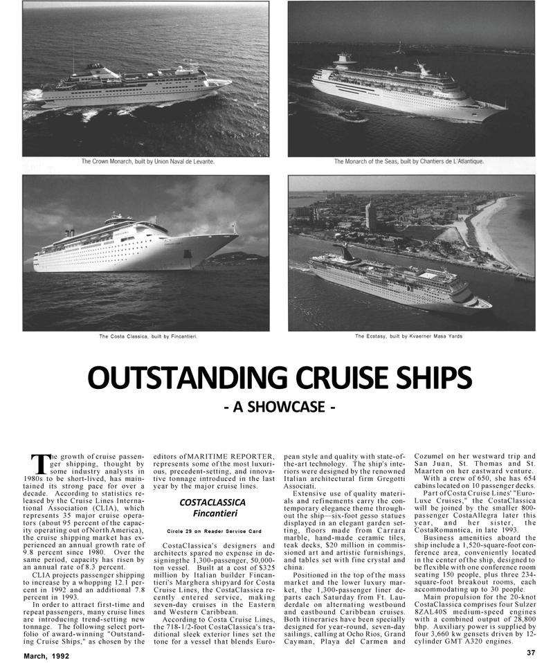 Maritime Reporter Magazine, page 37,  Mar 1992 western Caribbean