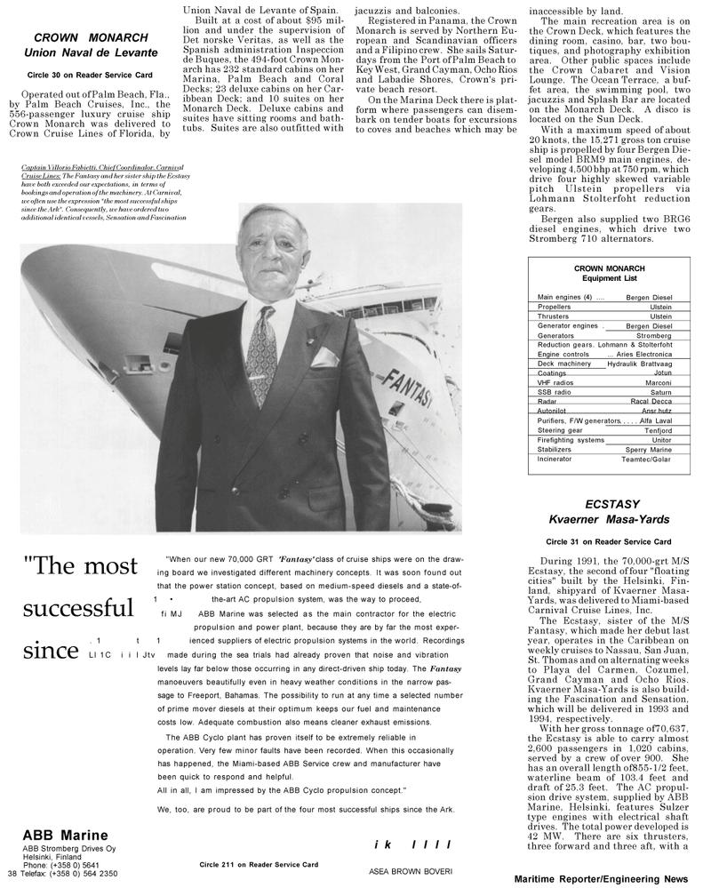 Maritime Reporter Magazine, page 38,  Mar 1992 Marine