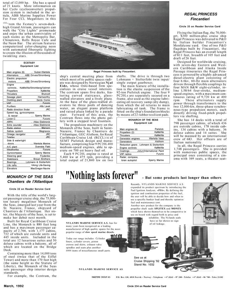 Maritime Reporter Magazine, page 39,  Mar 1992 Echo