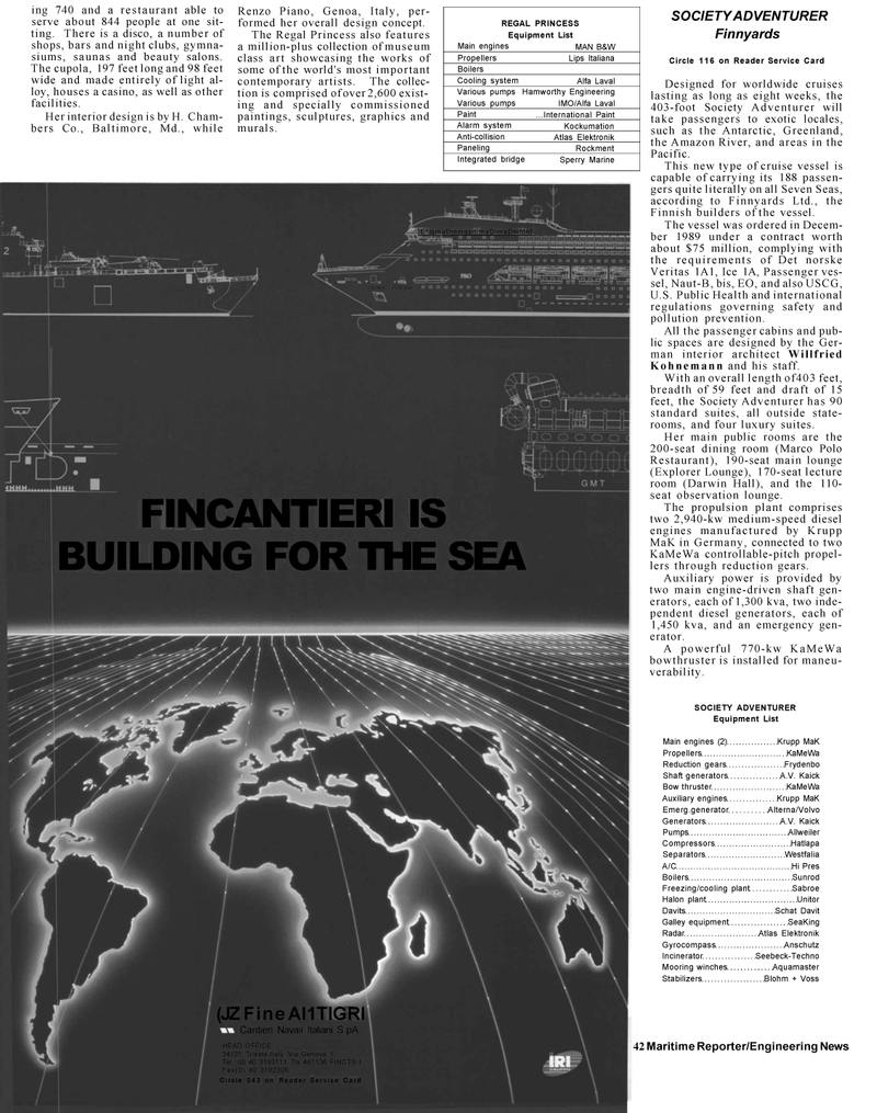 Maritime Reporter Magazine, page 40,  Mar 1992