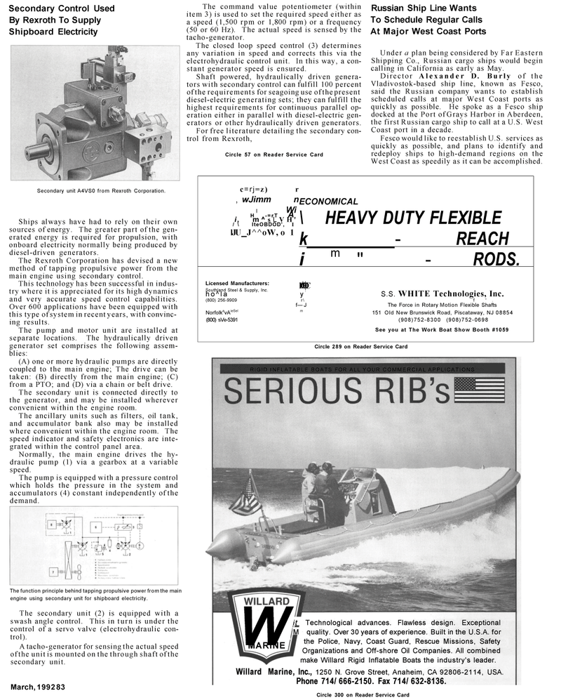 Maritime Reporter Magazine, page 41,  Mar 1992 Shipboard Electricity Secondary
