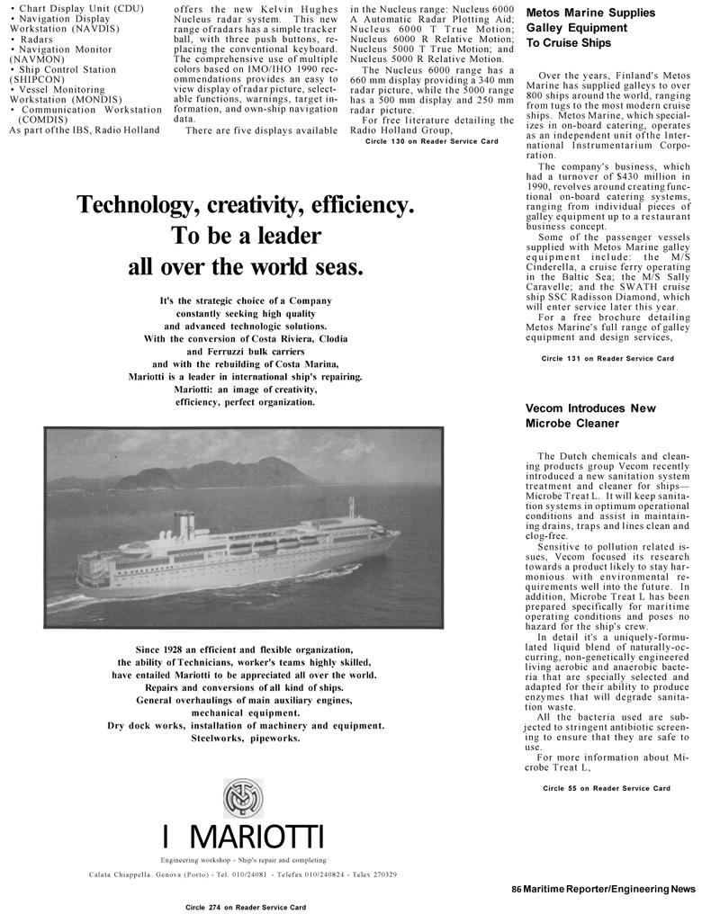 Maritime Reporter Magazine, page 44,  Mar 1992 Baltic Sea