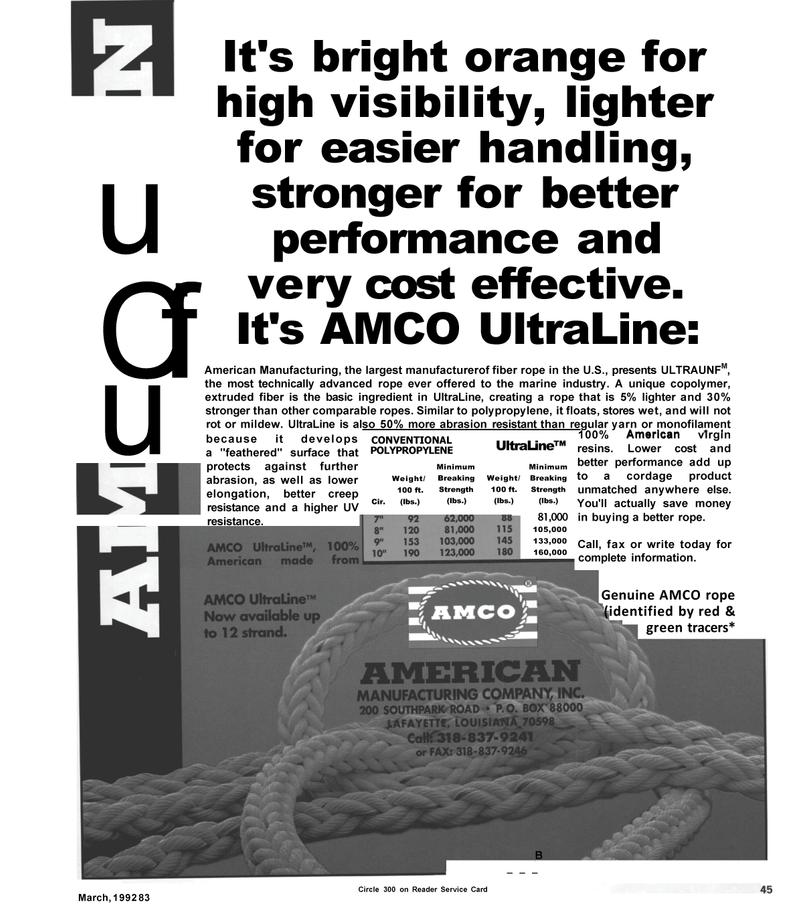 Maritime Reporter Magazine, page 45,  Mar 1992