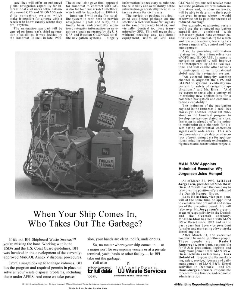 Maritime Reporter Magazine, page 58,  Mar 1992