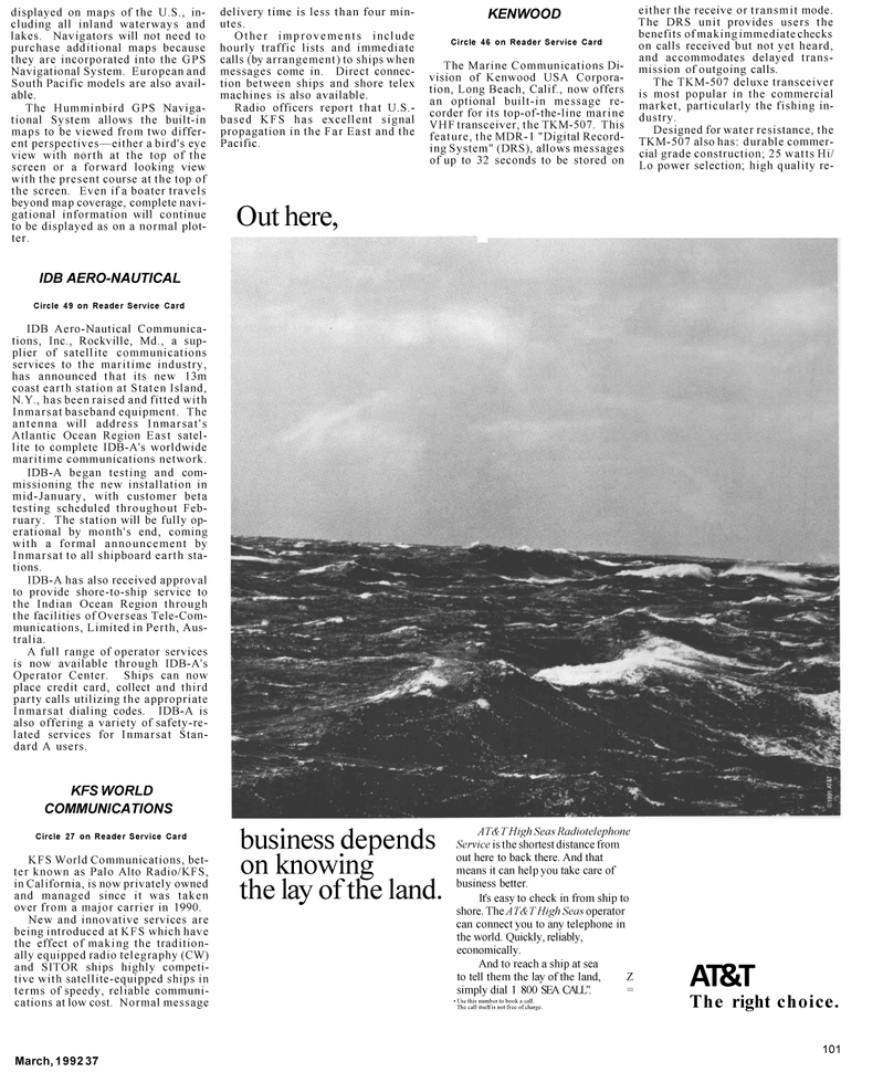 Maritime Reporter Magazine, page 67,  Mar 1992 Far East