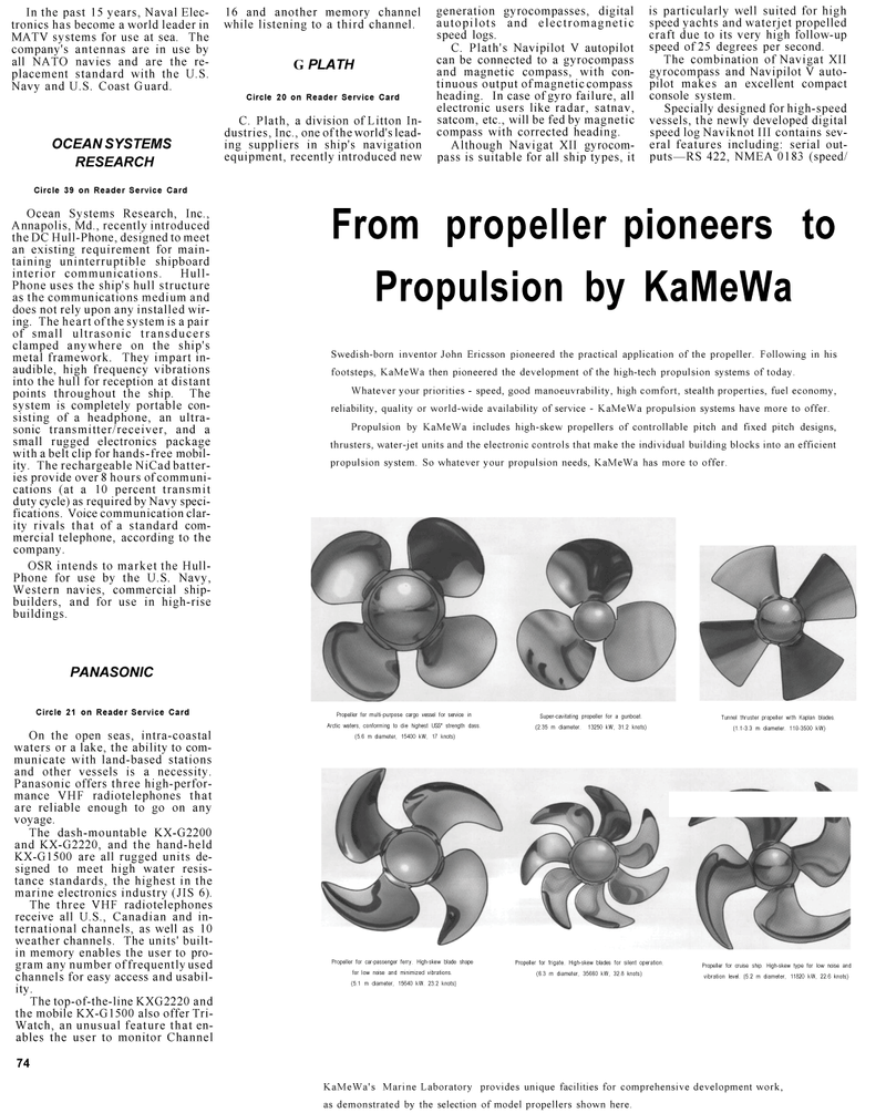 Maritime Reporter Magazine, page 70,  Mar 1992 U.S. Coast Guard