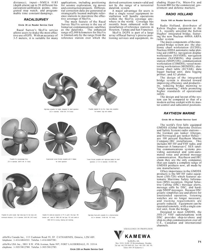 Maritime Reporter Magazine, page 71,  Mar 1992