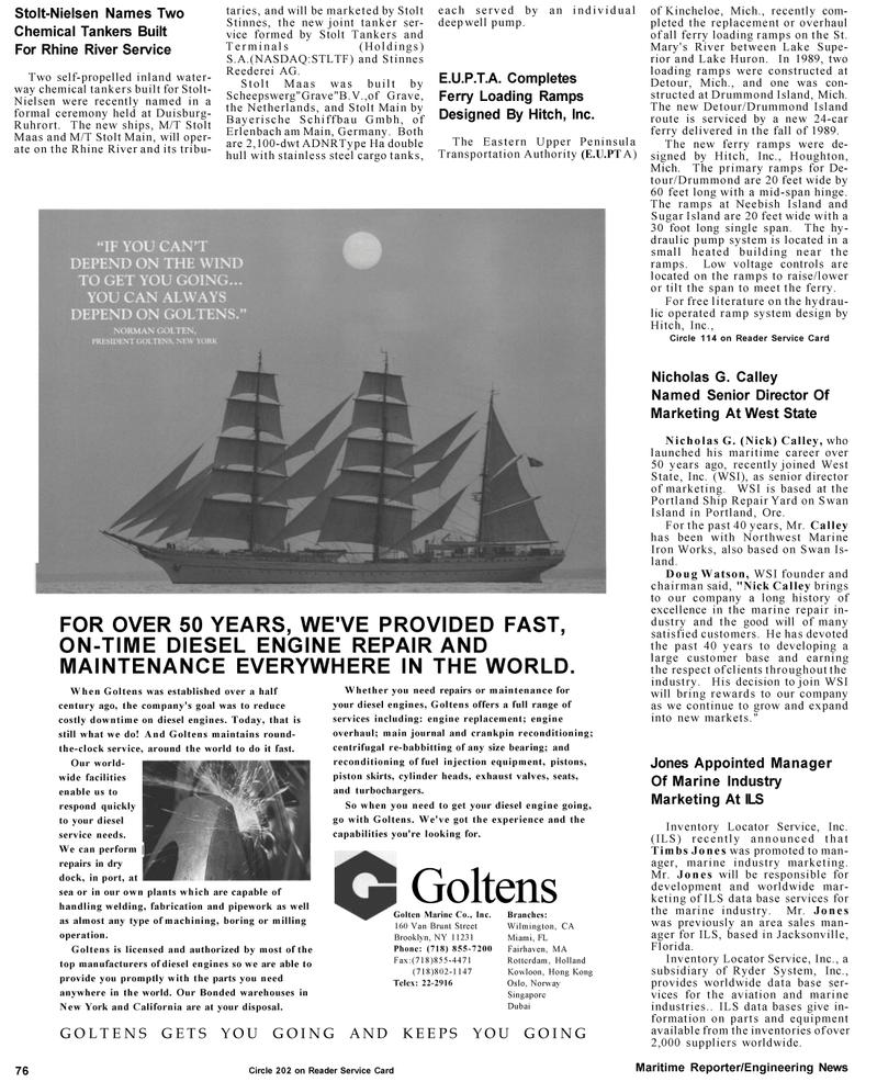 Maritime Reporter Magazine, page 76,  Mar 1992