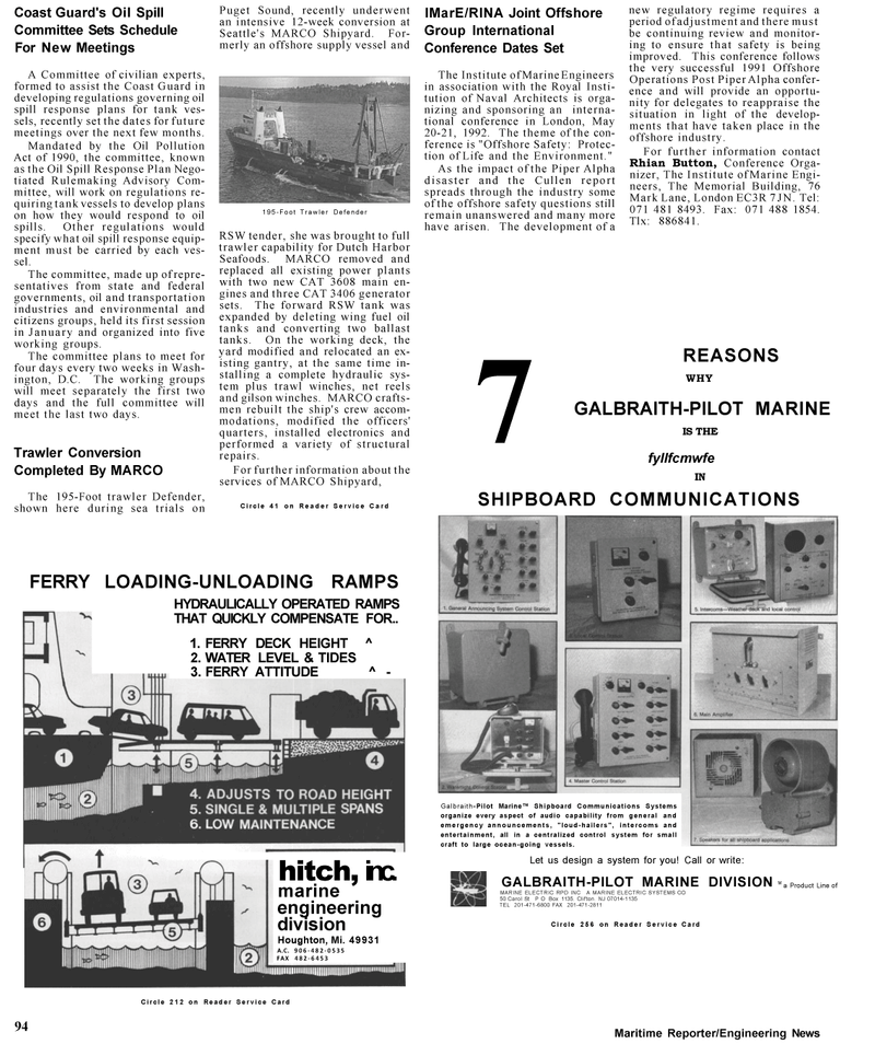 Maritime Reporter Magazine, page 90,  Mar 1992 RPD