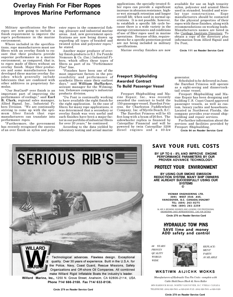Maritime Reporter Magazine, page 8,  May 1992 Delaware