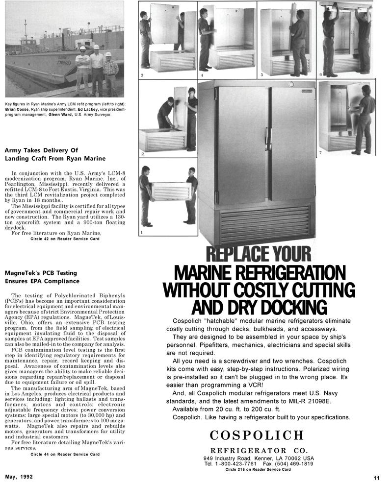 Maritime Reporter Magazine, page 9,  May 1992 Ohio