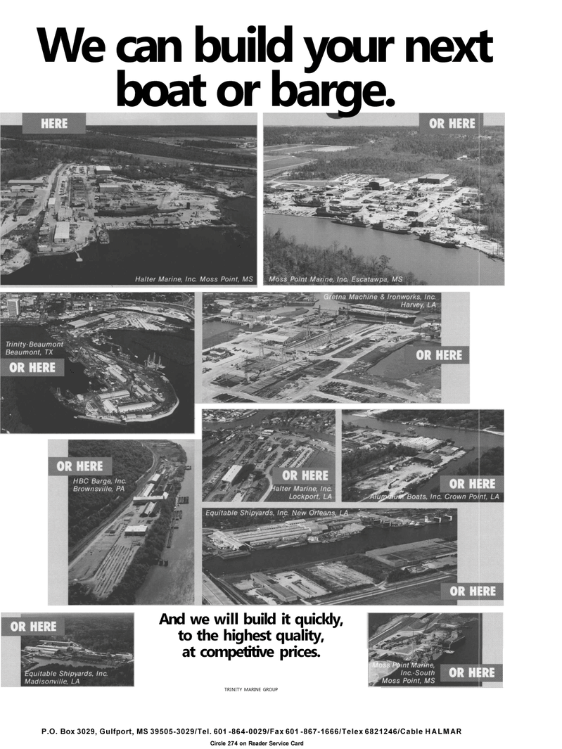 Maritime Reporter Magazine, page 14,  May 1992 Trinity Marine Group