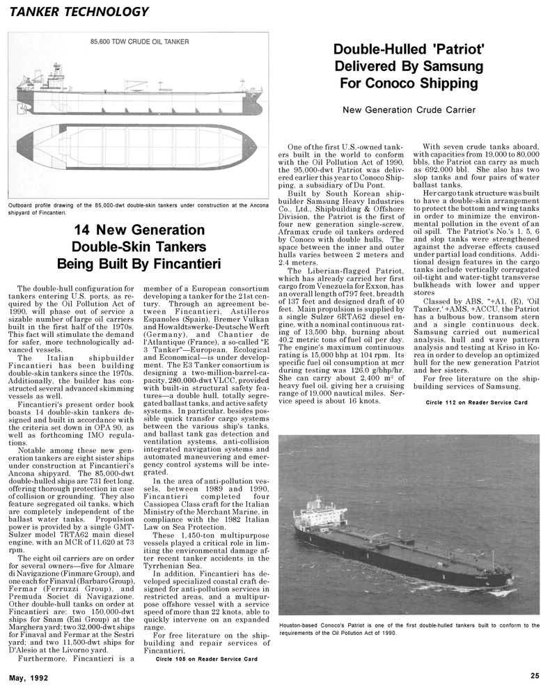 Maritime Reporter Magazine, page 25,  May 1992 United Nations