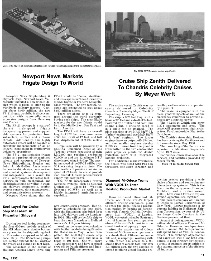 Maritime Reporter Magazine, page 29,  May 1992 Far East