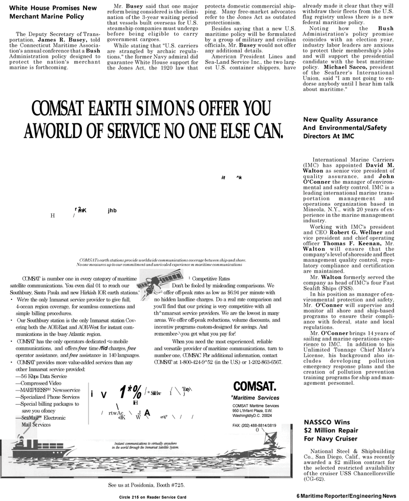 Maritime Reporter Magazine, page 4,  May 1992 New York