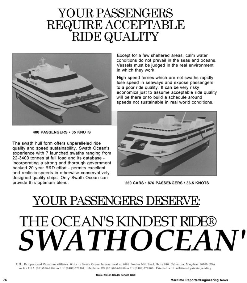 Maritime Reporter Magazine, page 84,  May 1992 United Kingdom