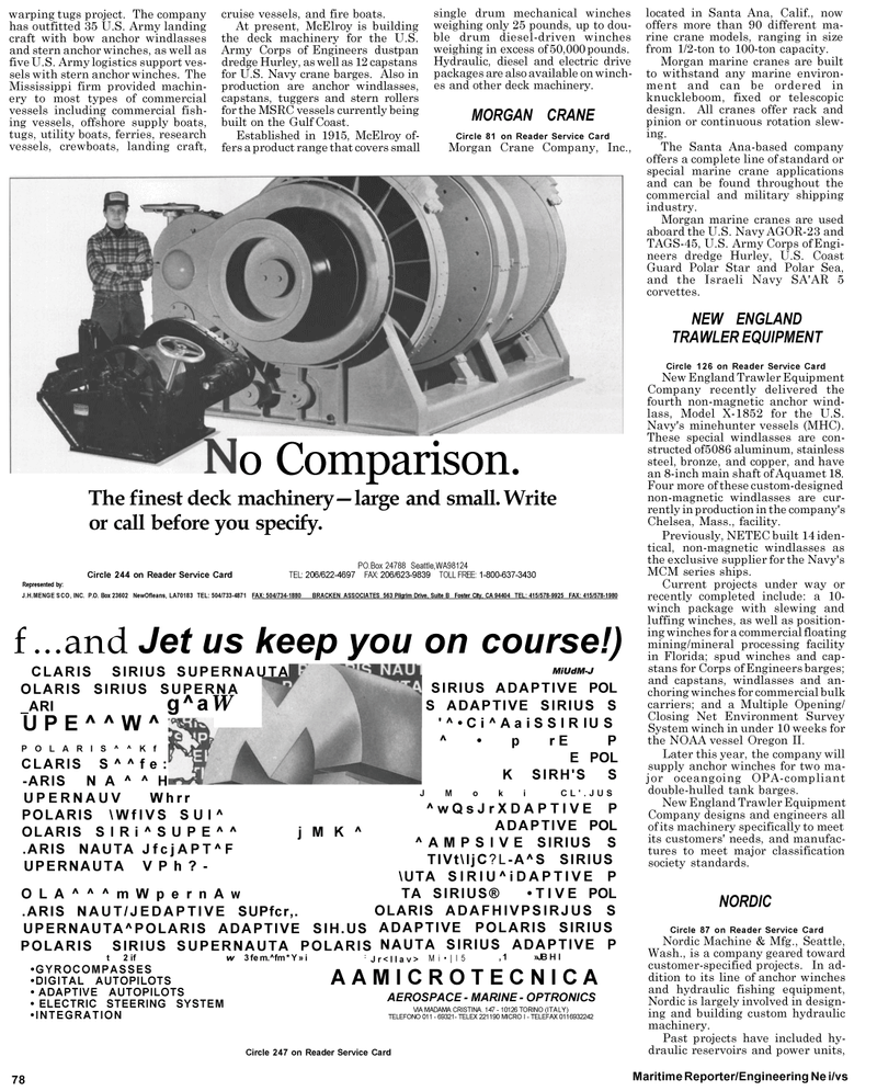 Maritime Reporter Magazine, page 4th Cover,  May 1992 Washington