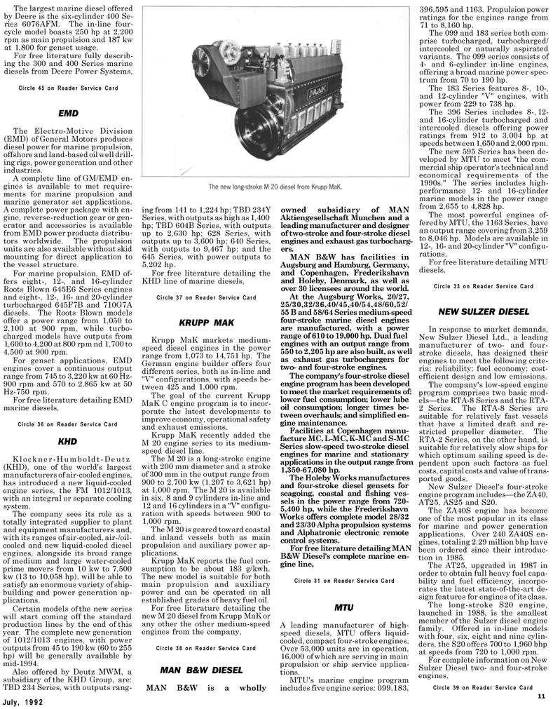 Maritime Reporter Magazine, page 25,  Jul 1992