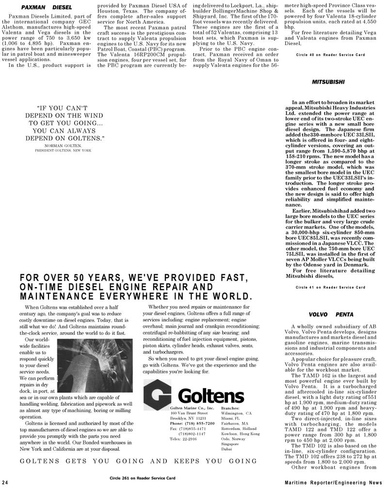 Maritime Reporter Magazine, page 26,  Jul 1992