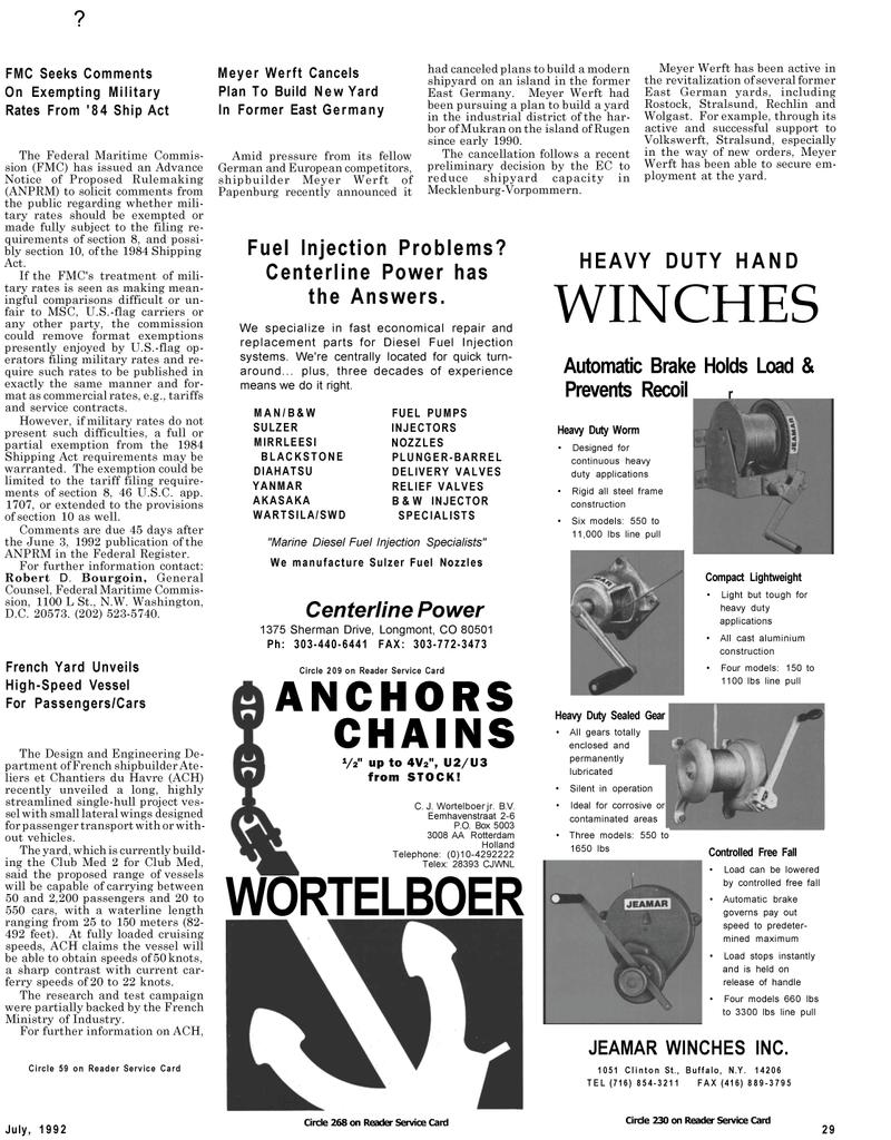 Maritime Reporter Magazine, page 33,  Jul 1992
