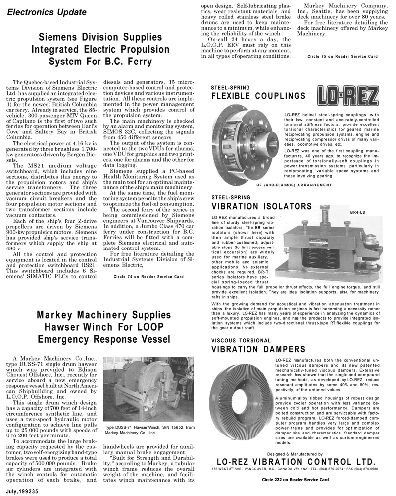 Maritime Reporter Magazine, page 7,  Jul 1992
