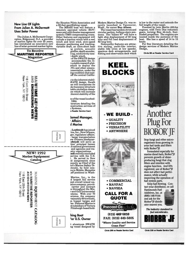 Maritime Reporter Magazine, page 9,  Aug 1992