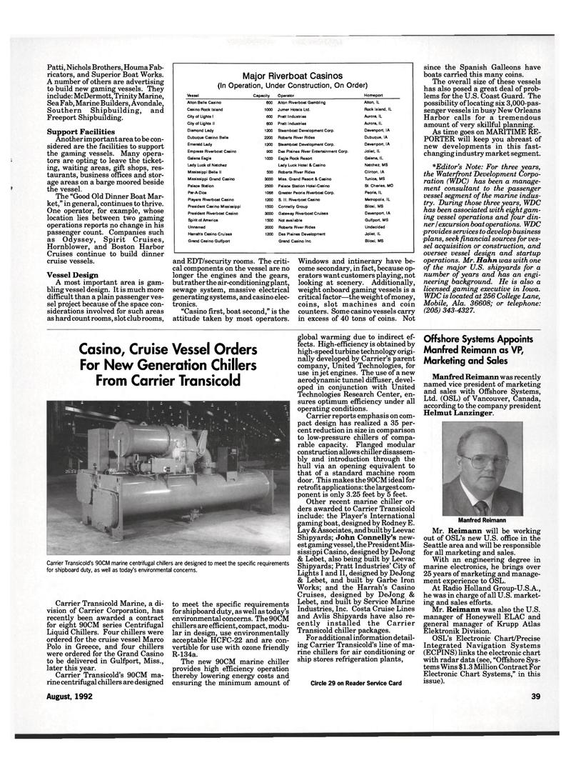 Maritime Reporter Magazine, page 37,  Aug 1992