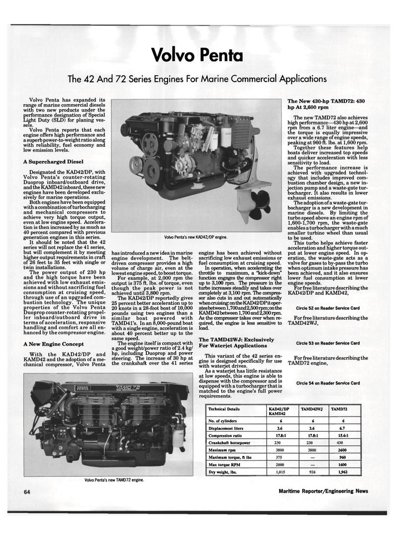 Maritimereporter Page on Volvo Penta Marine Engines
