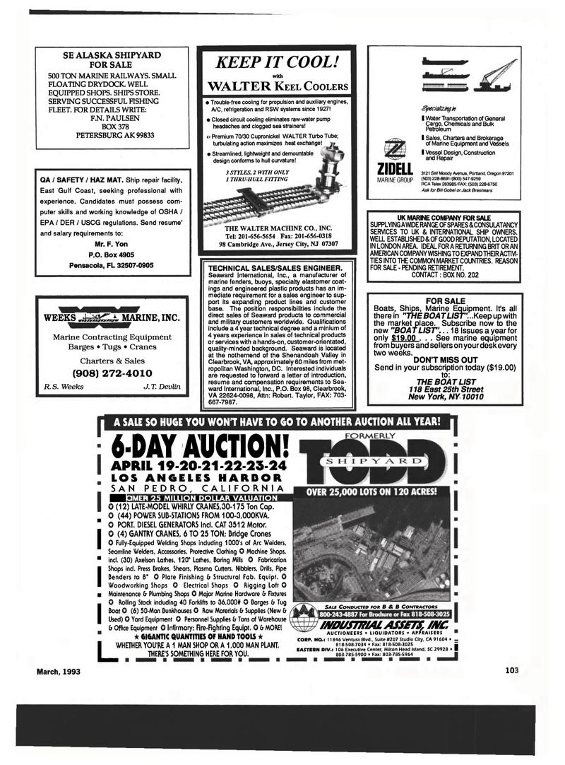 Maritime Reporter Magazine, page 99,  Mar 1993