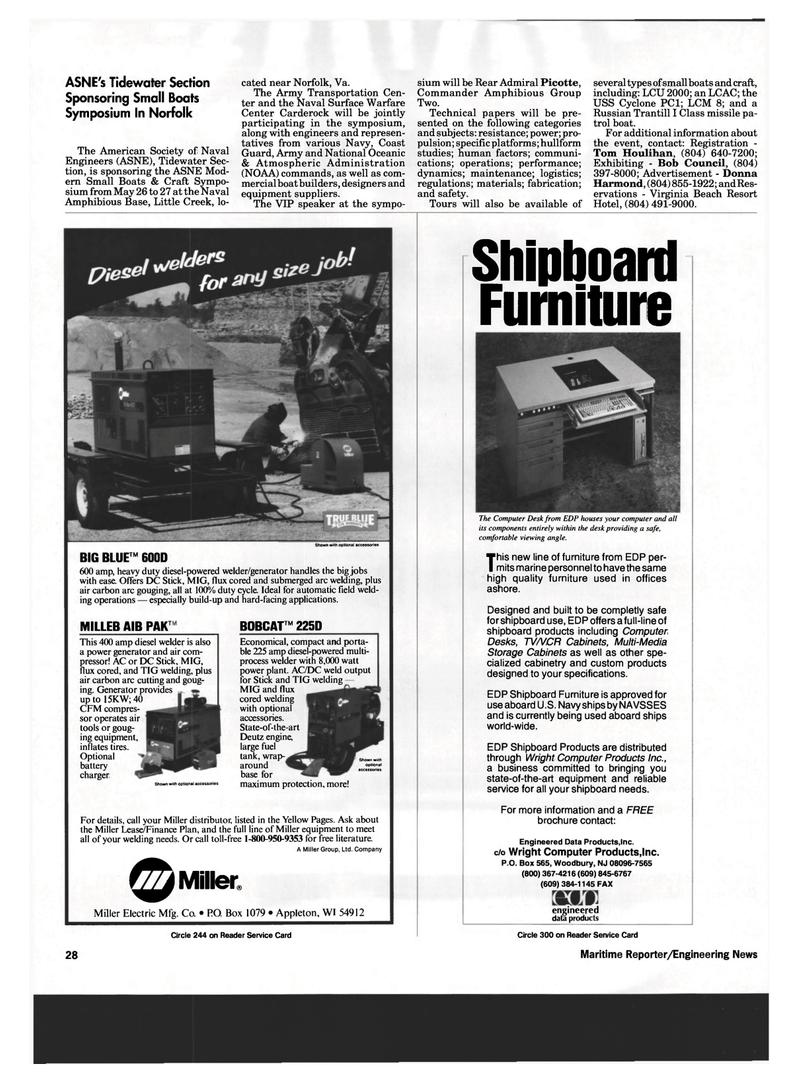 Wisconsin, Maritime Reporter Magazine April 1993 #26