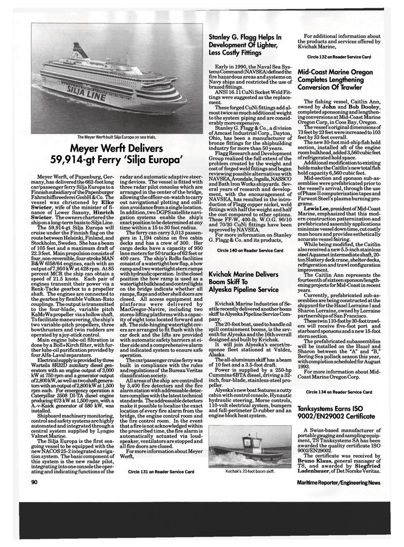 Maritime Reporter Magazine, page 88,  Apr 1993 Ohio
