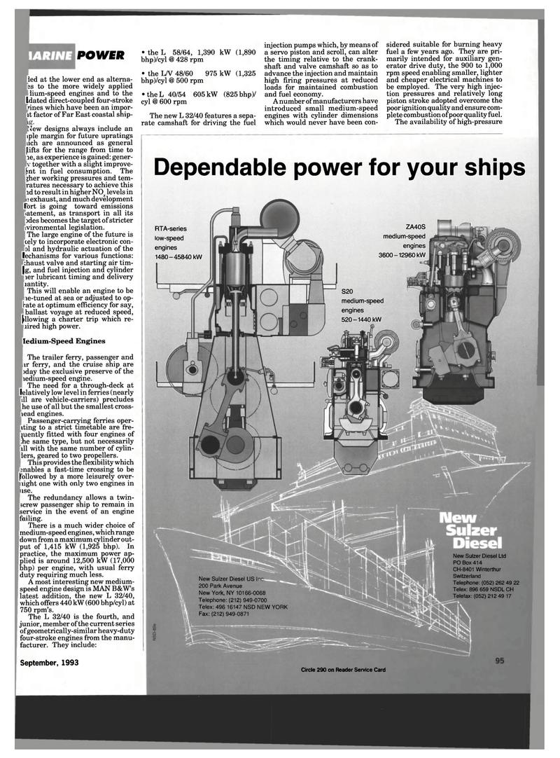Far East Maritime Reporter Magazine September 1993 101 Sulzer Engine Diagram 100 Page Sep Switzerland