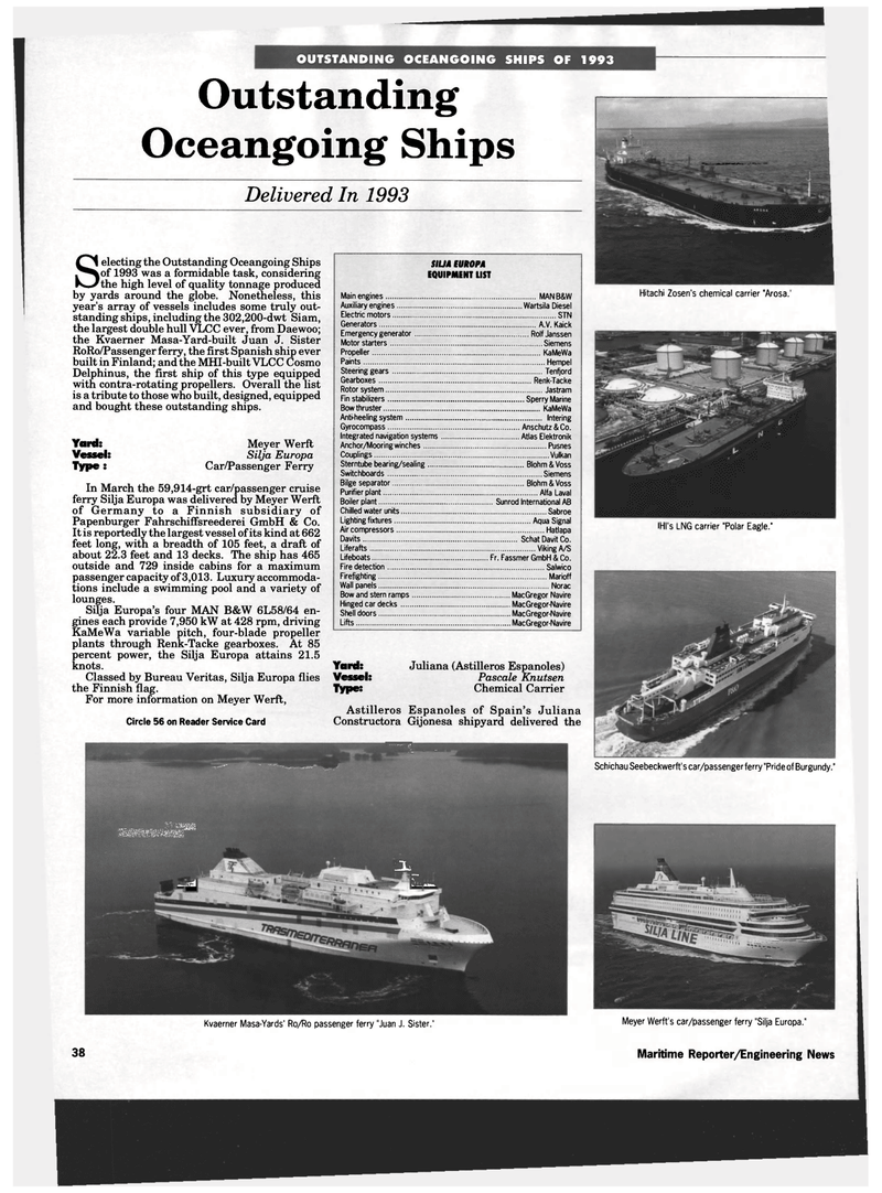 Maritime Reporter Magazine, page 36,  Dec 1993