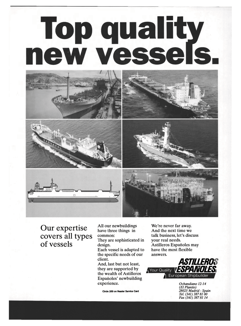 Maritime Reporter Magazine, page 9,  Mar 1994 Spain