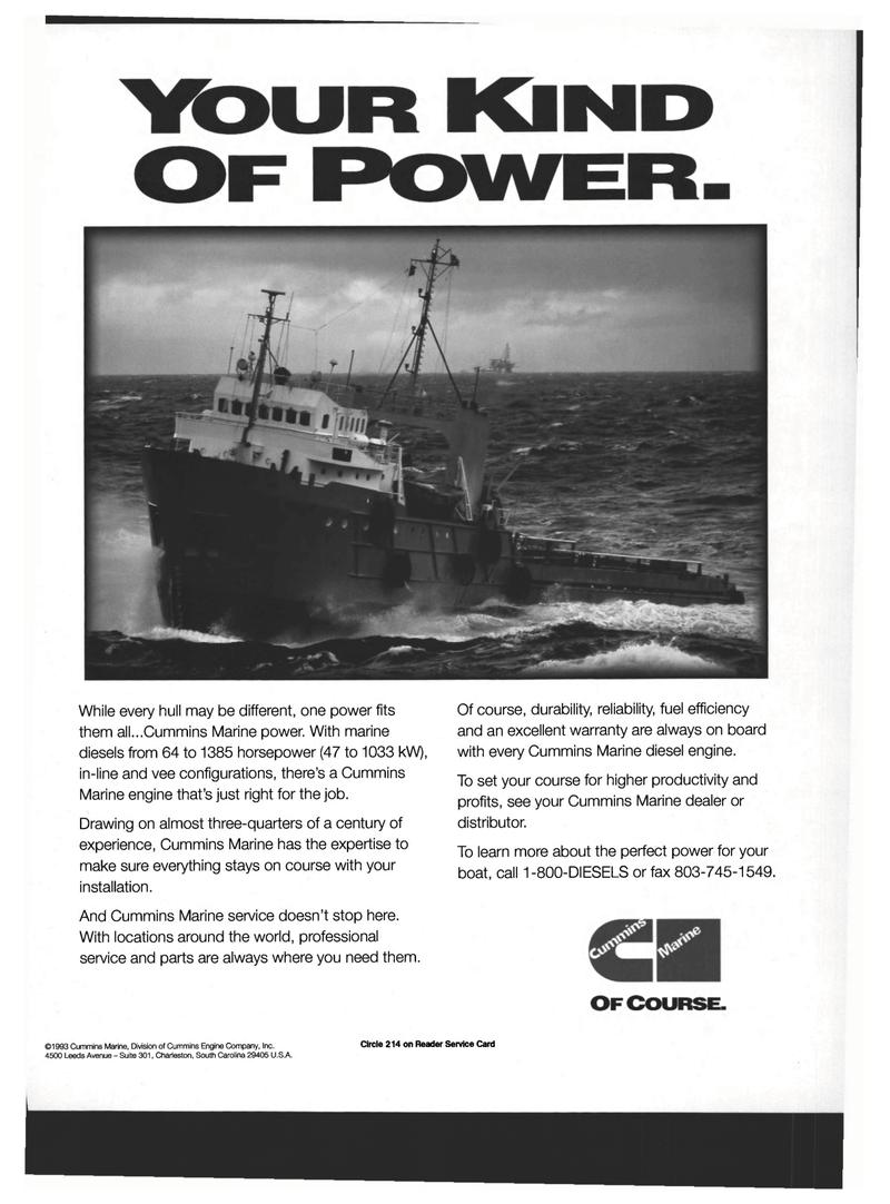 Maritime Reporter Magazine, page 23,  Mar 1994