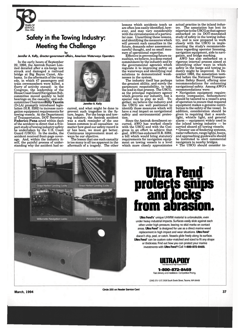 Maritime Reporter Magazine, page 35,  Mar 1994 Safety Board