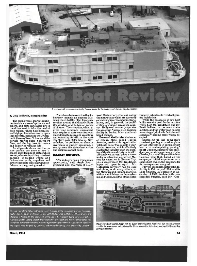 Maritime Reporter Magazine, page 49,  Mar 1994