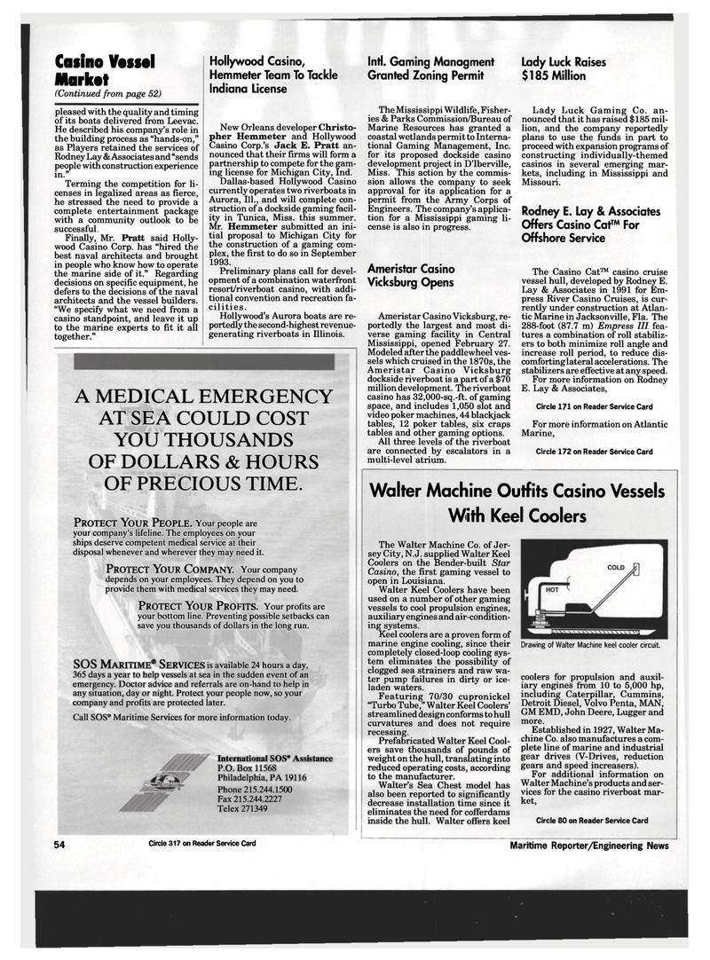Maritime Reporter Magazine, page 52,  Mar 1994 Louisiana