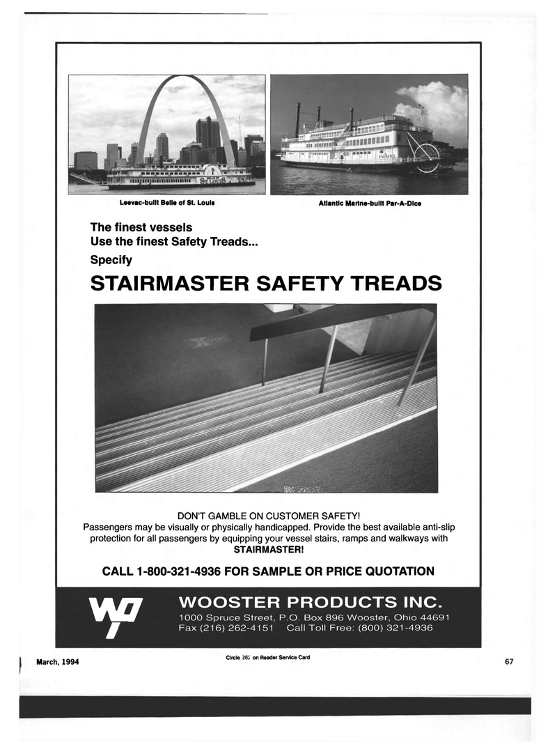 Maritime Reporter Magazine, page 63,  Mar 1994 PRICE QUOTATION W7 WOOSTER PRODUCTS INC.