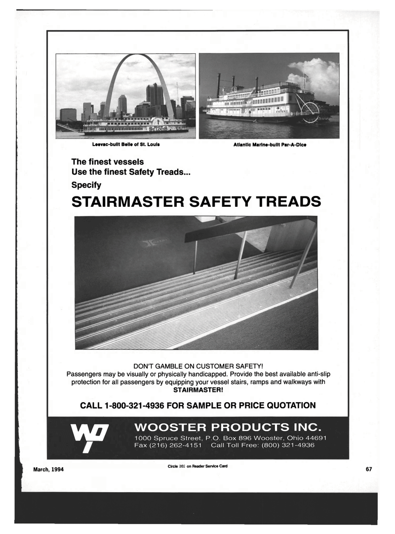 Maritime Reporter Magazine, page 65,  Mar 1994 PRICE QUOTATION W1 WOOSTER PRODUCTS INC.