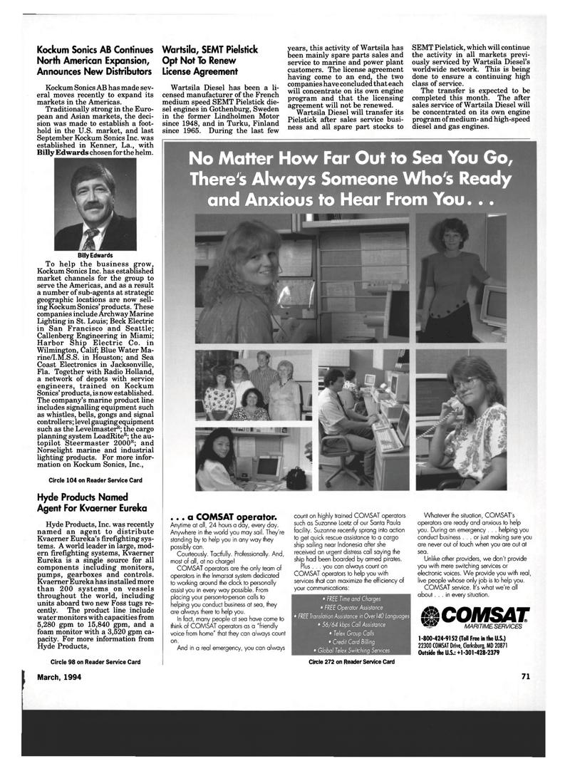 Maritime Reporter Magazine, page 69,  Mar 1994 Florida